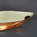 Decorative Metal Enamel Leaf Platter-Pastel Green