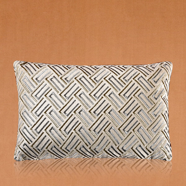 Silver and Gold Modern Duck Cushion (Including Filler)