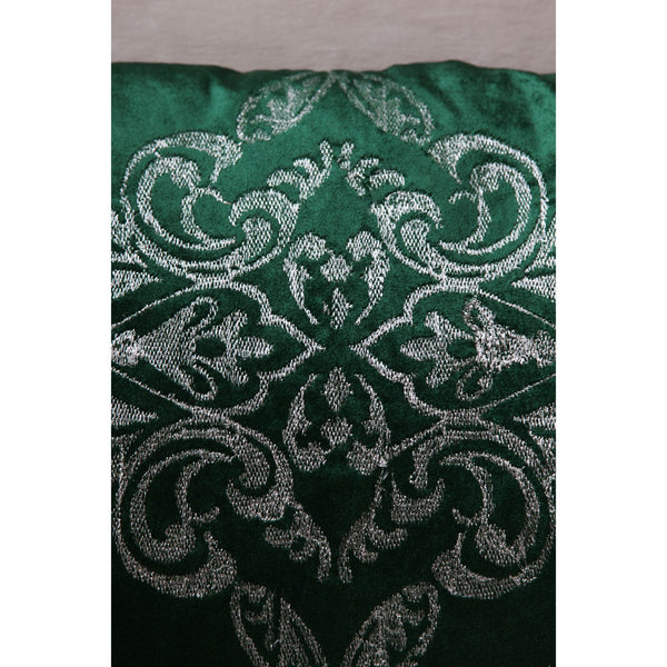 Embellished Royal Green Duck Cushion (Including Filler)