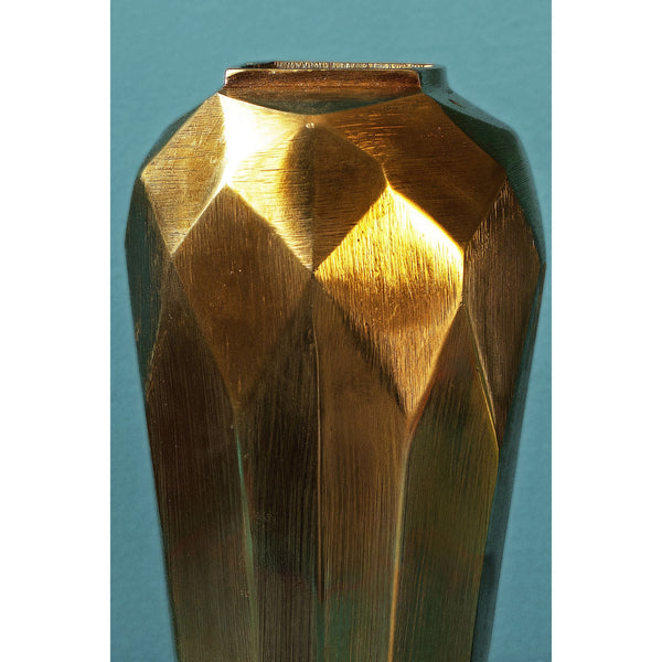 Antique Tapered Oval Vase Cut Design - Small