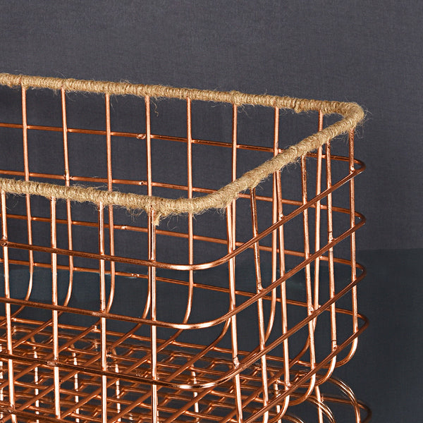 Multipurpose Big Basket - Rose Gold