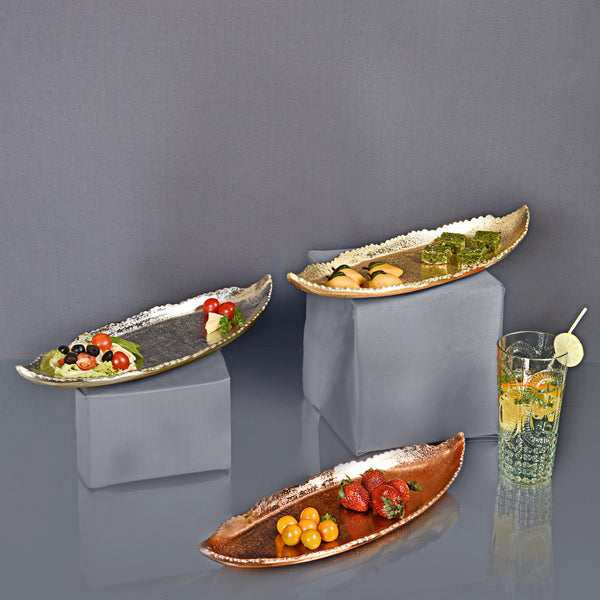 Falcate Long Platter - Rose Gold