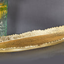 Falcate Long Platter - Gold