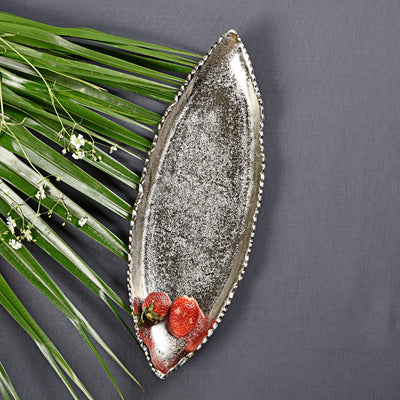 Falcate Long Platter - Silver