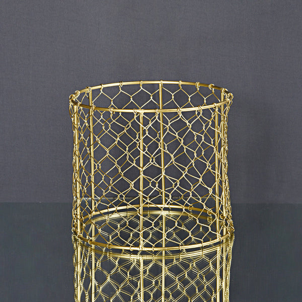 Moroccan Forged Planter (Set of 2) - Black & Gold