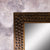 Antique Copper Contemporary Wooden Mirror