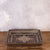 Grey Wooden Rectangle Stone Embellished Tray