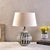 Ceramic Table Lamp With Shade - Black