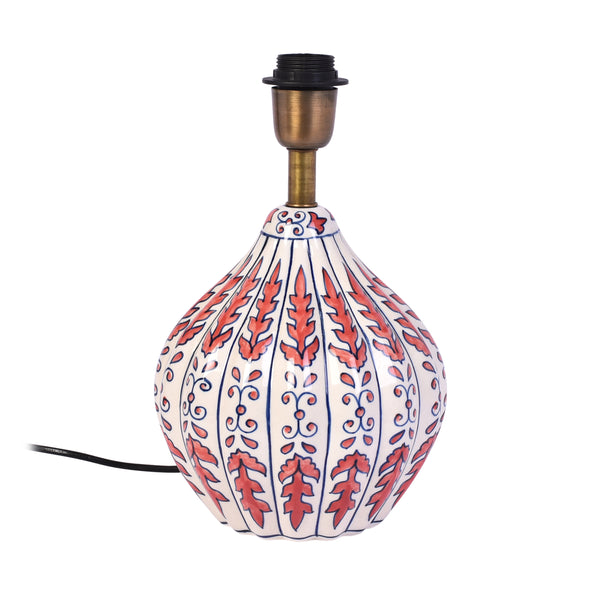 Ceramic Table Lamp With Shade - Pink