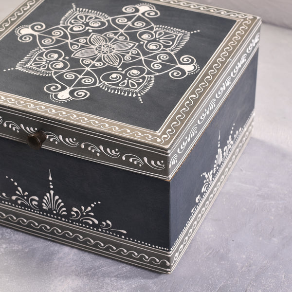 Wooden Storage Box - Hand Painted