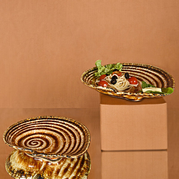 Brown - Snail Platter