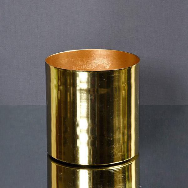 Moroccan Forged Planter - Gold
