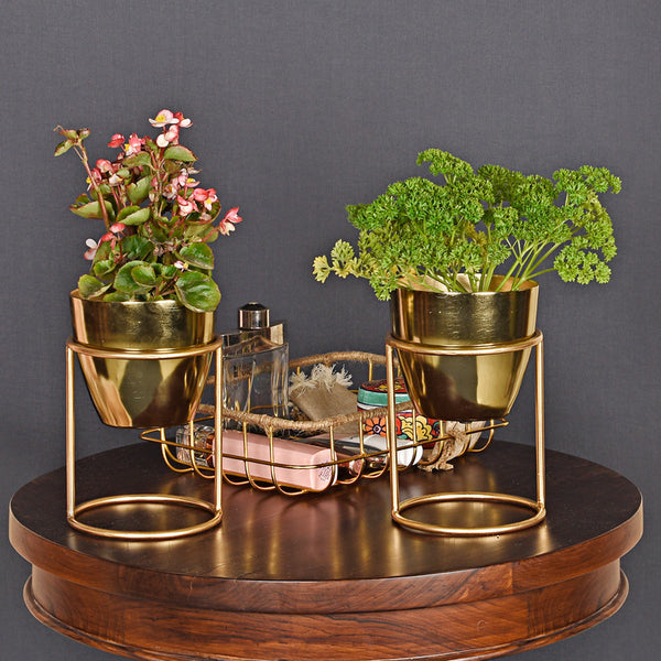 Petite Table Planter (Set of 2) - Gold