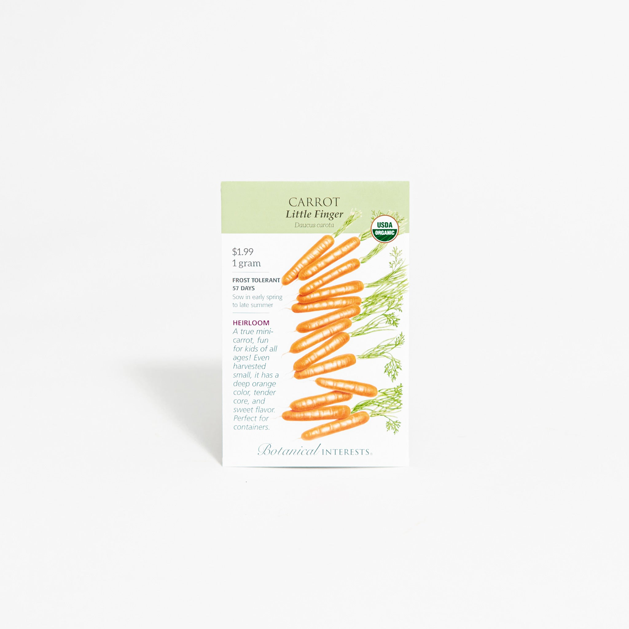 'Little Finger' Baby Carrot Seed Packet