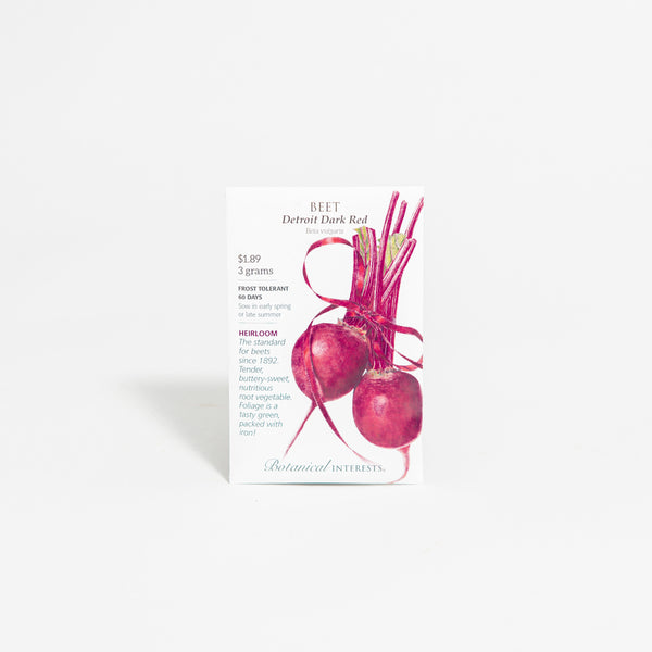 'Detroit Dark Red' Beet Seed Packet