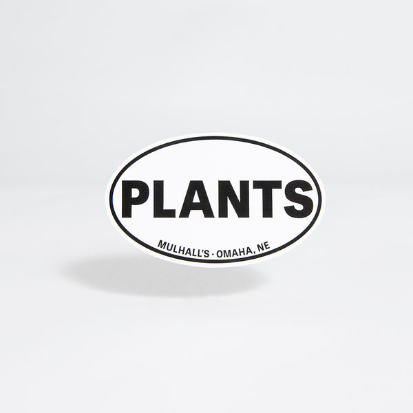 Plants Oval Sticker