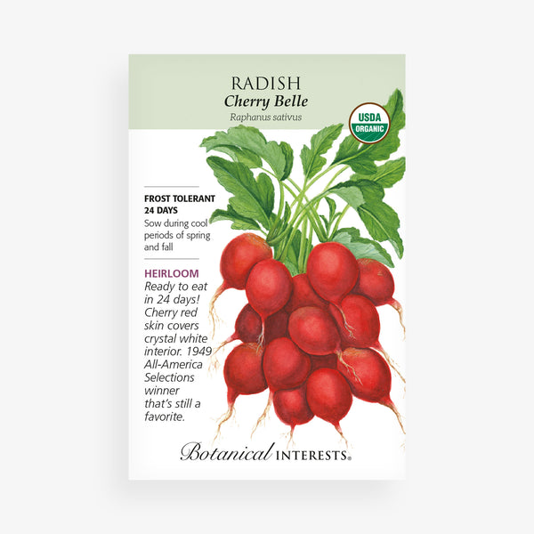 'Cherry Belle' Radish Seed Packet