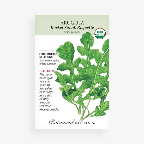 'Rocket Salad' Arugula Seed Packet
