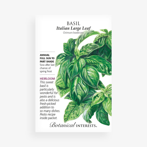 'Italian Large Leaf' Basil Seed Packet