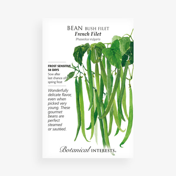 'French Filet' Bush Bean Seed Packet