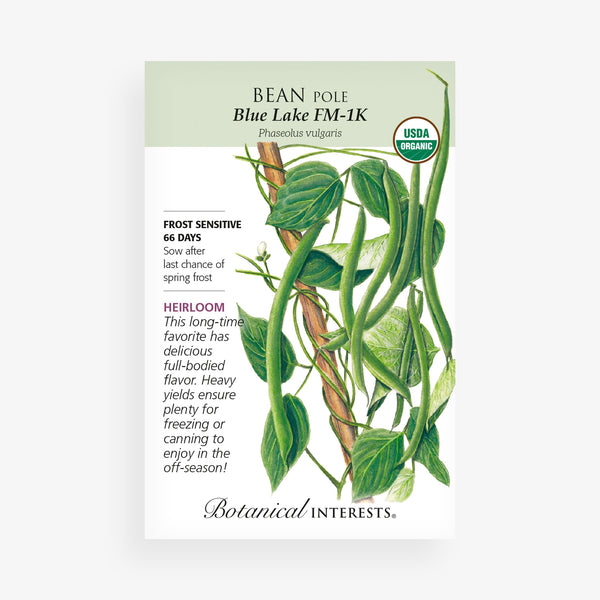 'Blue Lake FM-1K' Pole Bean Seed Packet