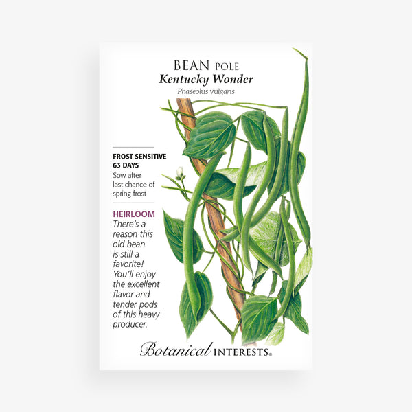 'Kentucky Wonder' Pole Bean Seed Packet