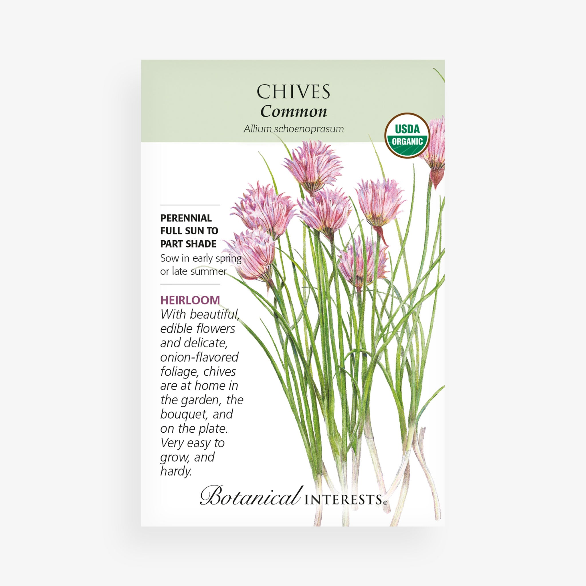 Common Chives Seed Packet