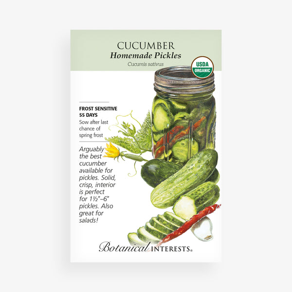 'Homemade Pickles' Cucumber Seed Packet