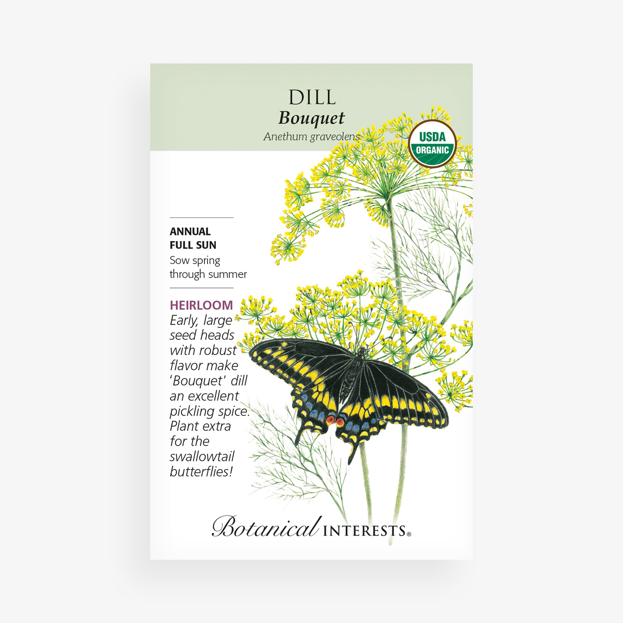 'Bouquet' Dill Seed Packet