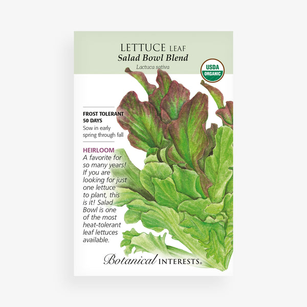 'Salad Bowl Blend' Lettuce Leaf Seed Packet