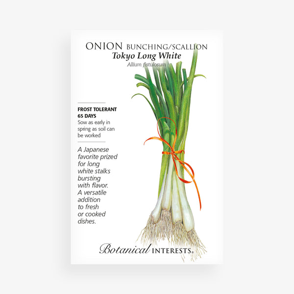 'Tokyo Long White' Bunching Onion Seed Packet