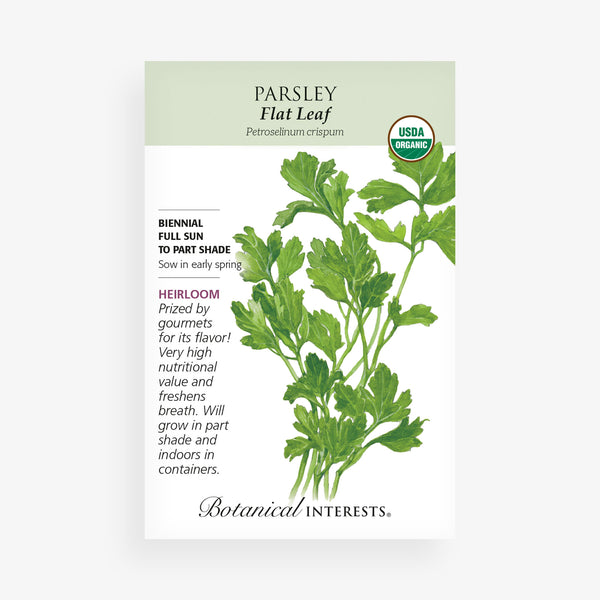 'Italian Dark Green Flat' Parsley Seed Packet