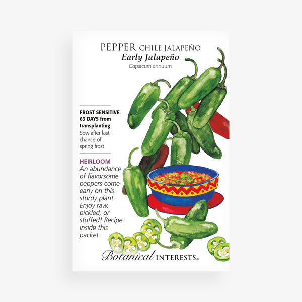 'Jalapeno Early' Chile Pepper Seed Packet