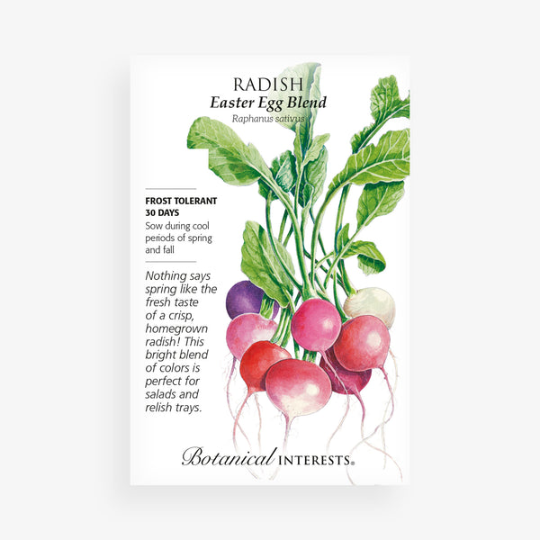 'Easter Egg Blend' Radish Seed Packet