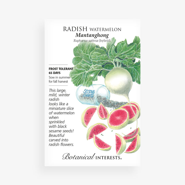 'Watermelon' Hybrid Radish Seed Packet