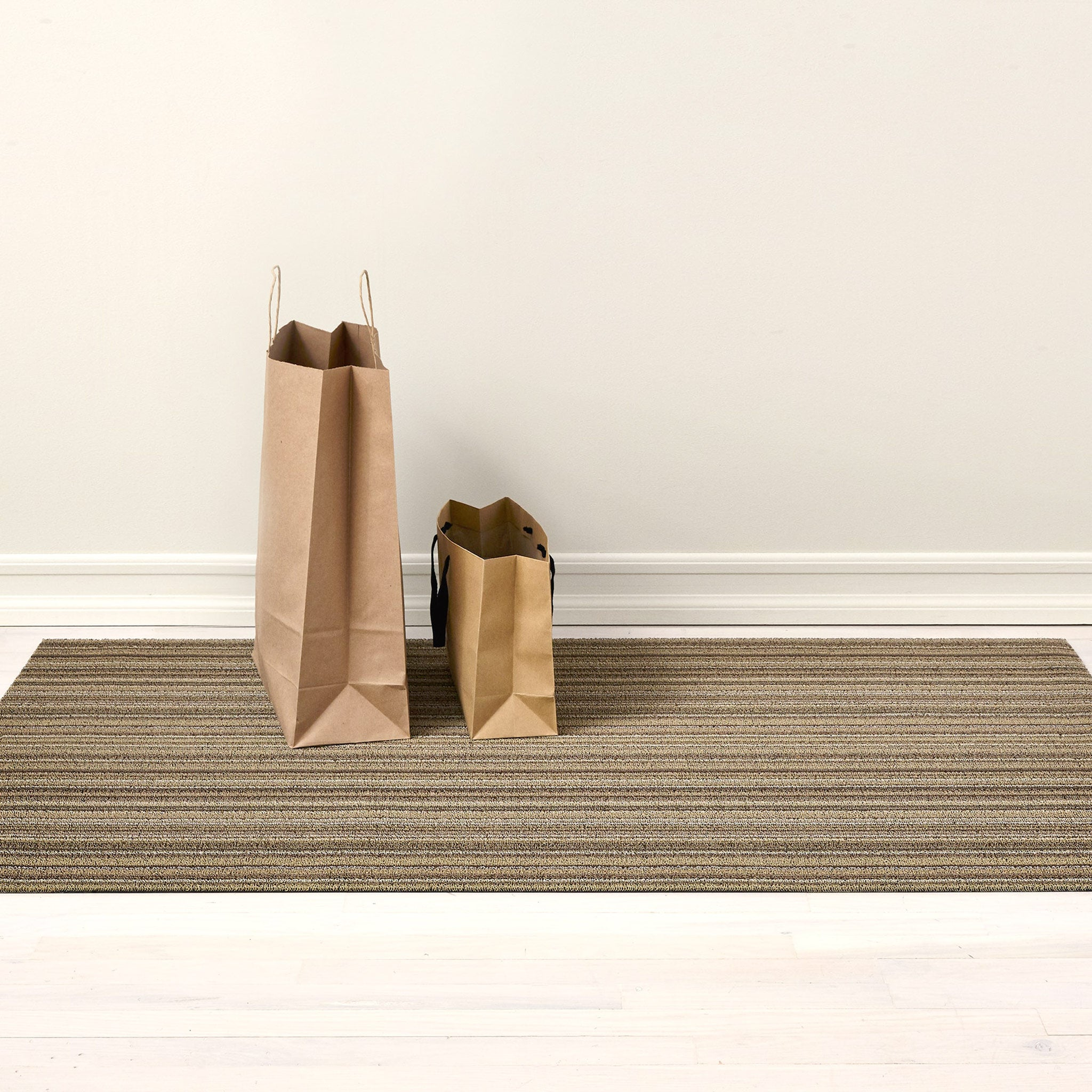 Skinny Stripe Shag Outdoor Rug
