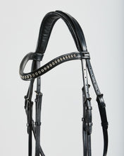 Load image into Gallery viewer, Kingsley Snaffle Bridle Flat Leather Black/Cob