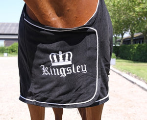 Kingsley Fleece Blanket Black 195cm