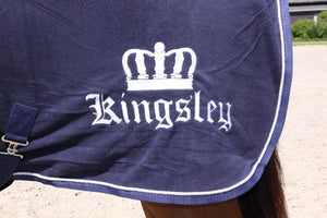 Kingsley Fleece Blanket Navy 185cm