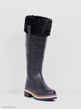 Load image into Gallery viewer, Kingsley Helsinki Gaucho Black/Black Black Sheepskin 39