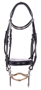 Kingsley Double Bridle Rolled Leather