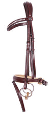 Load image into Gallery viewer, Kingsley Snaffle Bridle Flat Leather Chestnut/Cream Cob