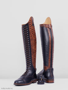 Kingsley Orlando 01 38.5 MA XS Blue/Alligator Brown