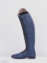 Load image into Gallery viewer, Kingsley Orlando 02 41 A M Gaucho Navy/Blue Shiny Utterly Sheepskin