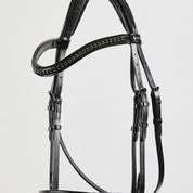 Load image into Gallery viewer, Kingsley Snaffle Bridle Patent Black/Full