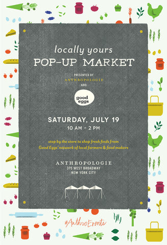 Pop-Up Market at Anthropologie in Soho this Saturday!