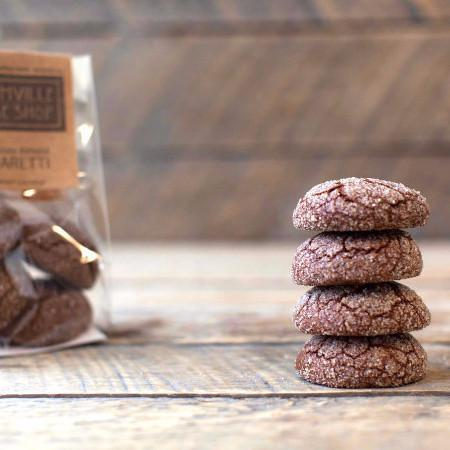 Almond Chocolate Amaretti Cookies- Gluten-free - Krumville Bake Shop