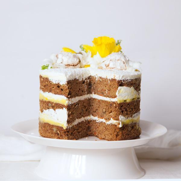 Decorated Carrot Layer Cake  Gluten-free - Krumville Bake Shop