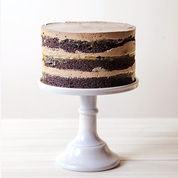 Chocolate Layer Cake with Salted Caramel - Gluten-free - Krumville Bake Shop