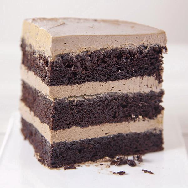 Slice of Chocolate Cake with Salted Caramel - Gluten-free - Krumville Bake Shop